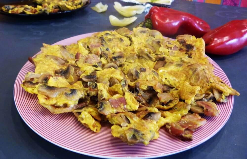 Omlet sa šampinjonima i slaninom